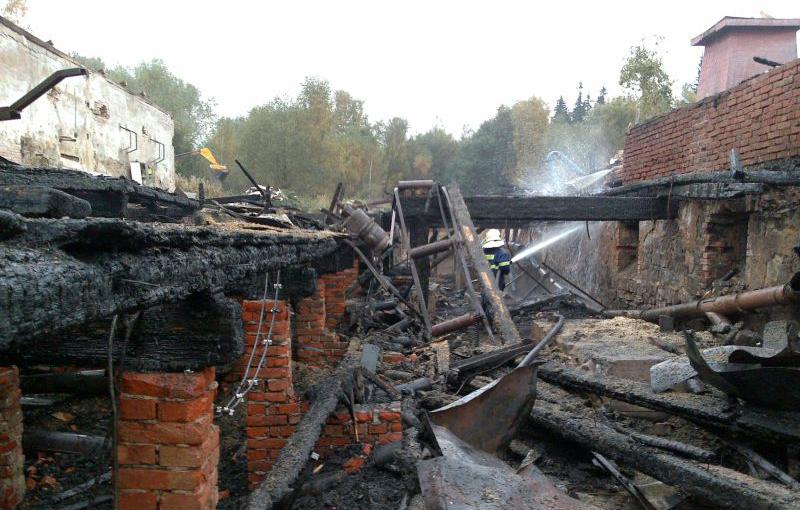 Požár bývalé pily – Čachnov