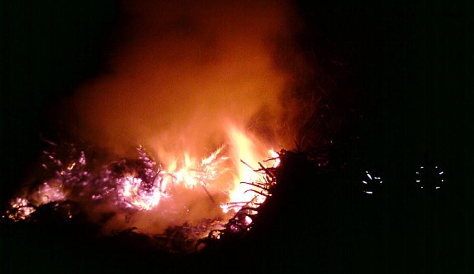 Požár v lese ve Svratouchu