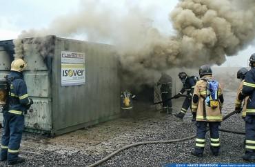 Výcvik ve Flashover kontejneru – Fotogalerie