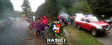Ukázka techniky na dětském táboře