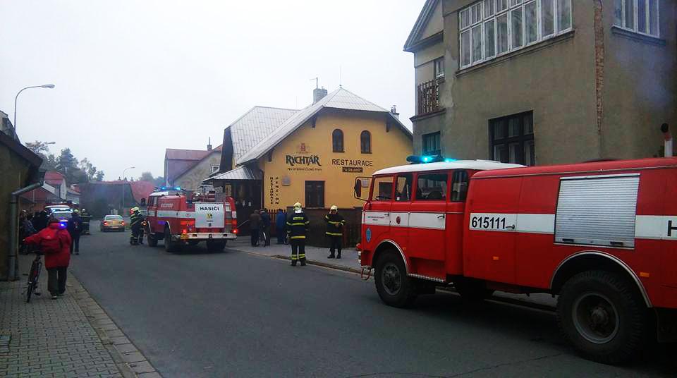 Požár výherního automatu ve Svratce