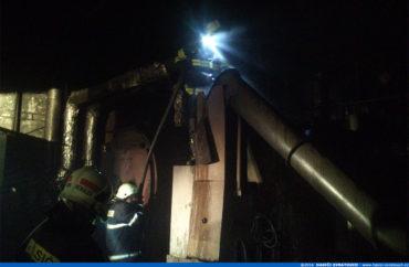 Požár kotelny ve výrobně nábytku – Herálec