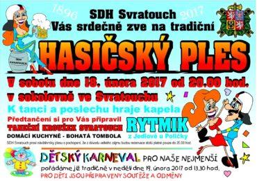 Pozvánka: Hasičský ples a Dětský karneval 2017